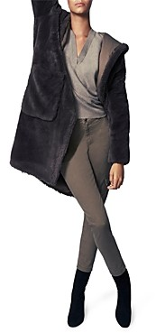 b new york Oyster Shell Faux Fur Wow Coat
