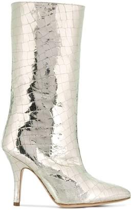 Paris Texas Croc-Effect Boots