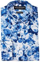Nick Graham Floral Modern Fit Long Sleeve Dress Shirt