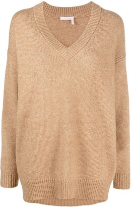 See by Chloe V-neck knitted jumper