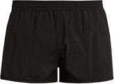 Ami Heart-embroidered swim shorts
