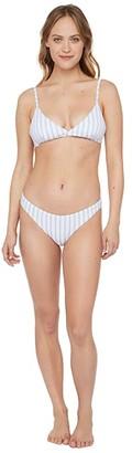 Polo Ralph Lauren Dobby Rib Stripe Bralette (Blue) Women's Swimwear