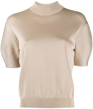 Nina Ricci Knitted Short-Sleeve Top