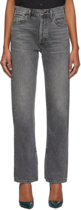 Citizens of Humanity Grey Campbell High-Rise Relaxed Straight Long Jeans