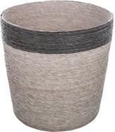 Baolgi - Stripe Waste Basket - Black