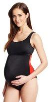 Prego Maternity Women's Maternity Sport One Piece Swimsuit