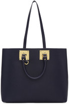 Sophie Hulme Navy Cromwell East West Tote