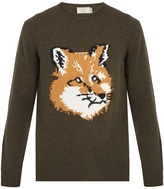 MAISON KITSUNÉ Fox-intarsia wool sweater