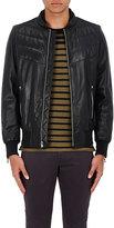 Rag & Bone Men's Gallagher Leather Bomber Jacket-BLACK