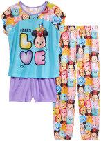 Disney 3-Pc. BFFs LOVE Tsum Tsum Pajama Set, Little Girls (4-6X) and Big Girls (7-16)