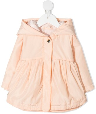 Chloé Kids Pleated Hooded Raincoat