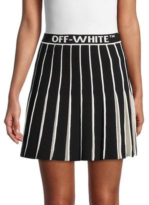 Off-White Knit Pleated Skirt