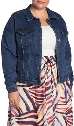 Junarose Jrfiona Denim Jacket (Plus Size)
