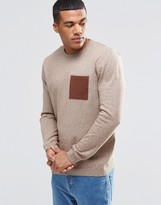 Asos Cotton Jumper With Contrast Pocket