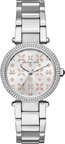 Michael Kors MK6483 stainless steel floral cutout watch