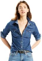 Levi's Women's Classic Tailored Western Denim Shirt