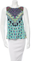 Mara Hoffman Geometric Print Cutout Top w/ Tags