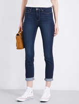 Paige Hoxton roll-up cuffs skinny high-rise jeans