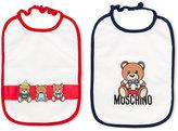Moschino Kids bear-print bib set