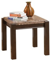 ACME Furniture Dwayne End Table Emparedora Gray Marble Top - ACME