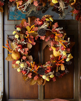 "Horchow 28"" Harvest Wreath"