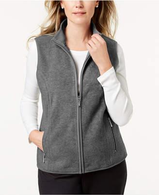 Karen Scott Sport Zip-Up Zeroproof Fleece Vest