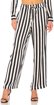 Anine Bing Striped Pajama Pant in Black & White. - size M (also in )