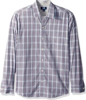 Cutter & Buck Men's Big and Tall Long Sleeve Non-Iron Spread Collar Dress Shirt