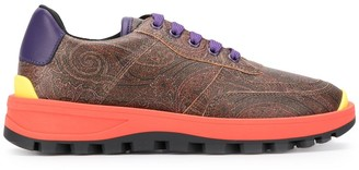 Etro contrast sole sneakers