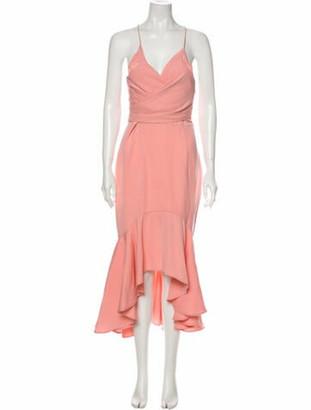 Jarlo Cowl Neck Midi Length Dress w/ Tags Pink Cowl Neck Midi Length Dress w/ Tags