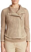 Akris Punto Mesh Zip Up Jacket