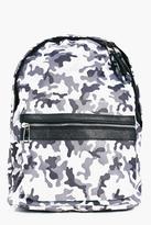 Boohoo Camo Backpack
