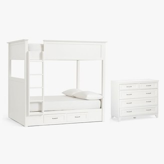 Pottery Barn Teen Hampton Bunk Bed & 5-Drawer Dresser Set