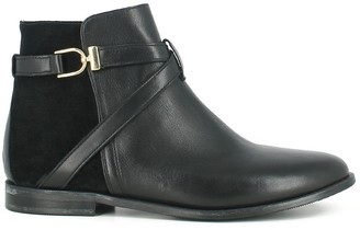 Jonak Dilling Leather Ankle Boots with Buckle