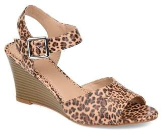 Brinley Co. Womens Classic Ankle Strap Wedge