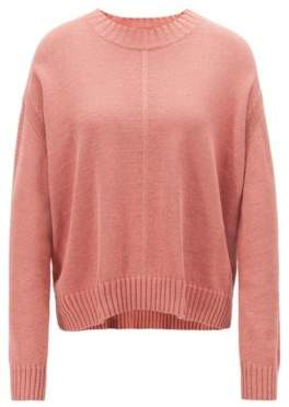 BOSS Oversized-fit sweater with mixed stitching detail