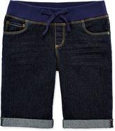 Arizona Knit-Waist Bermuda Shorts - Girls 7-16, Slim and Plus