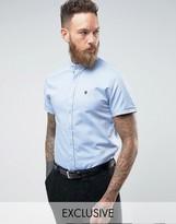 Noose & Monkey Skinny Short Sleeve Oxford Shirt