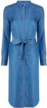 Tommy Hilfiger Belted Denim Shirt Dress
