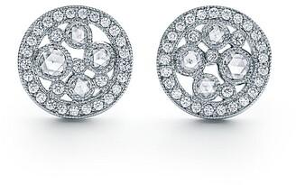 Tiffany & Co. Cobblestone earrings in platinum with diamonds, mini