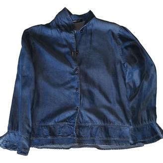Cerruti Blue Cotton Top for Women