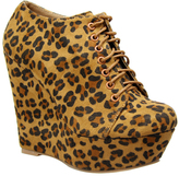Leopard Platform Lola Bootie