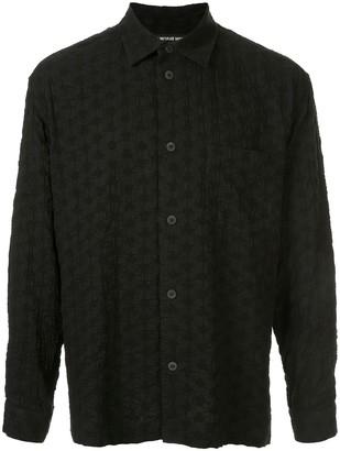 Issey Miyake textured long sleeve shirt