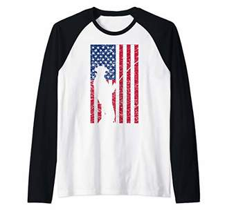 Fly London Patriot Fishing Flag Rod Reel Crappie Bass Fish July 4 Raglan Baseball Tee