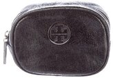 Tory Burch Crackled Leather Cosmetic Bag