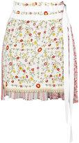 No.21 tie-waist floral skirt