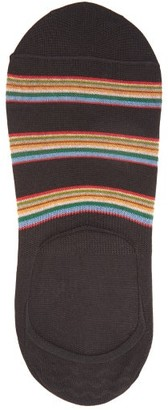 Paul Smith Striped No-show Cotton-blend Socks - Black