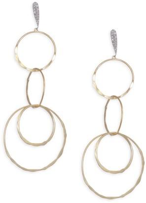 Meira T Diamond, 14K Yellow & White Gold Drop Earrings