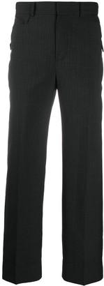 Ader Error Asymmetric Pocket Striped Trousers