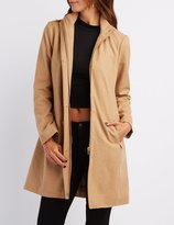 Charlotte Russe Funnel Collar Wool Blend Coat